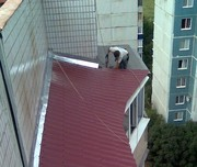 Ремонт балконных козырьков в Алматы