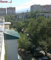 Балконные козырьки,  установка в Алматы не дорого 328 98 20