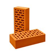 Кирпич одинарный лицевой пустотелый (морковный)